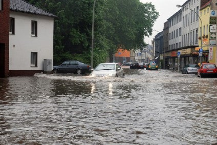 Überschwemmung durch Hochwasser